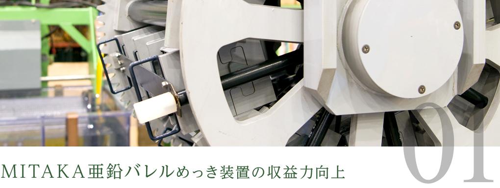 MITAKA亜鉛バレルめっき装置の収益力向上